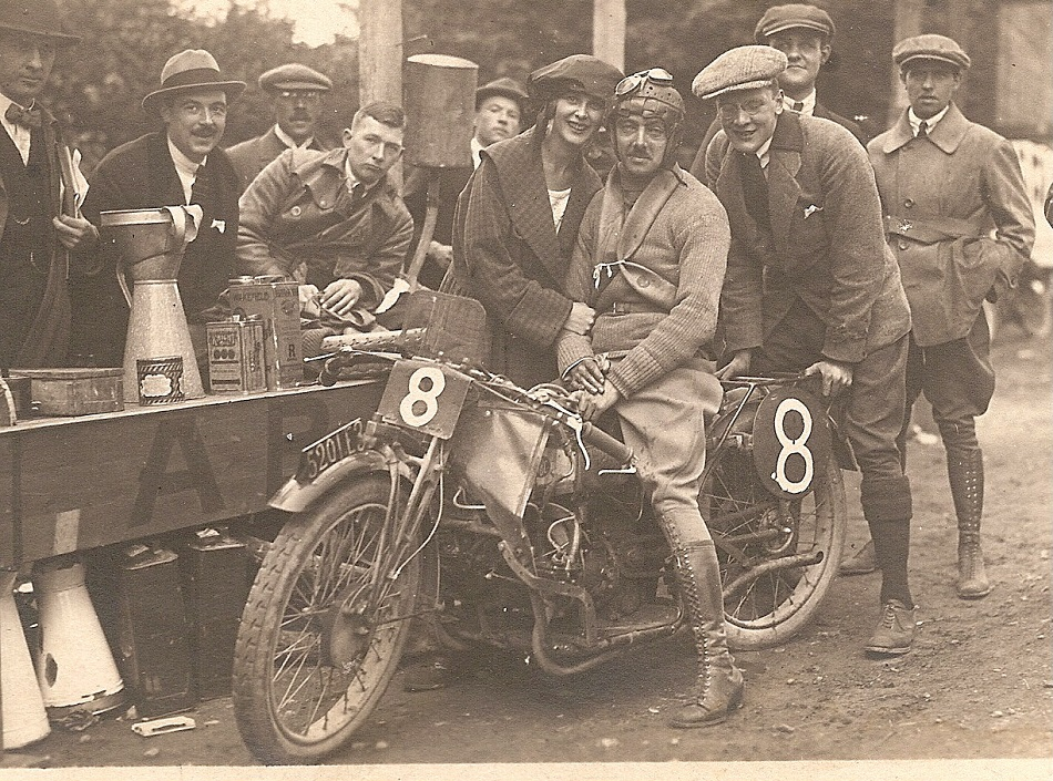 Edmond Claessens at the Belgian Grand Prix in Francorchamps in 1921